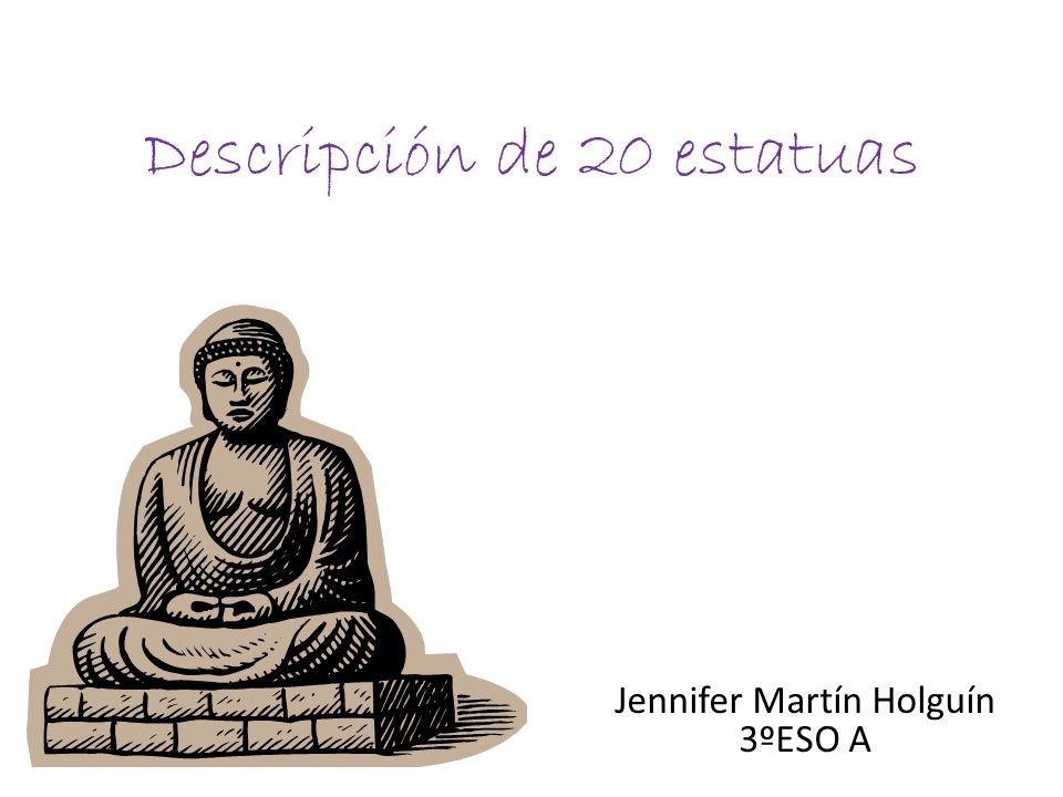 Descripción de 20 estatuas