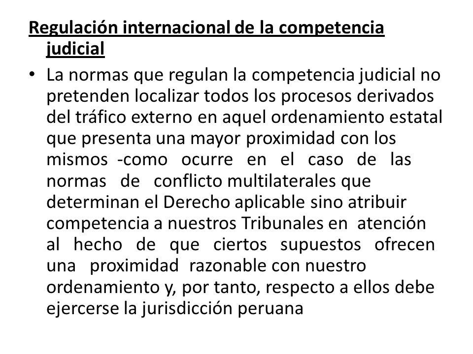 Regulación internacional de la competencia judicial