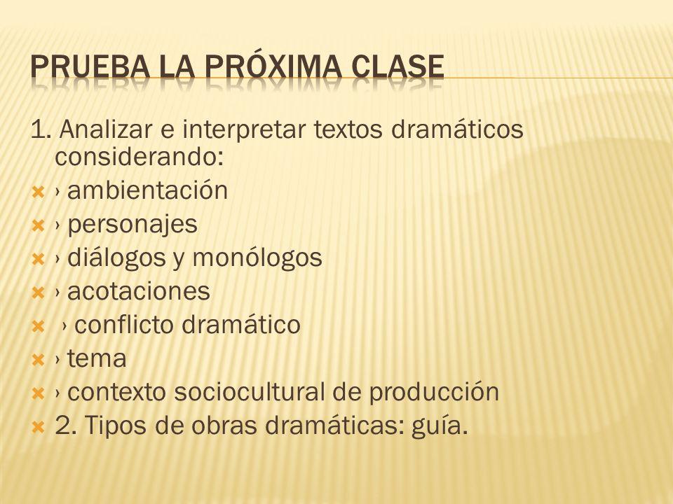PRUEBA LA PRÓXiMA CLASE