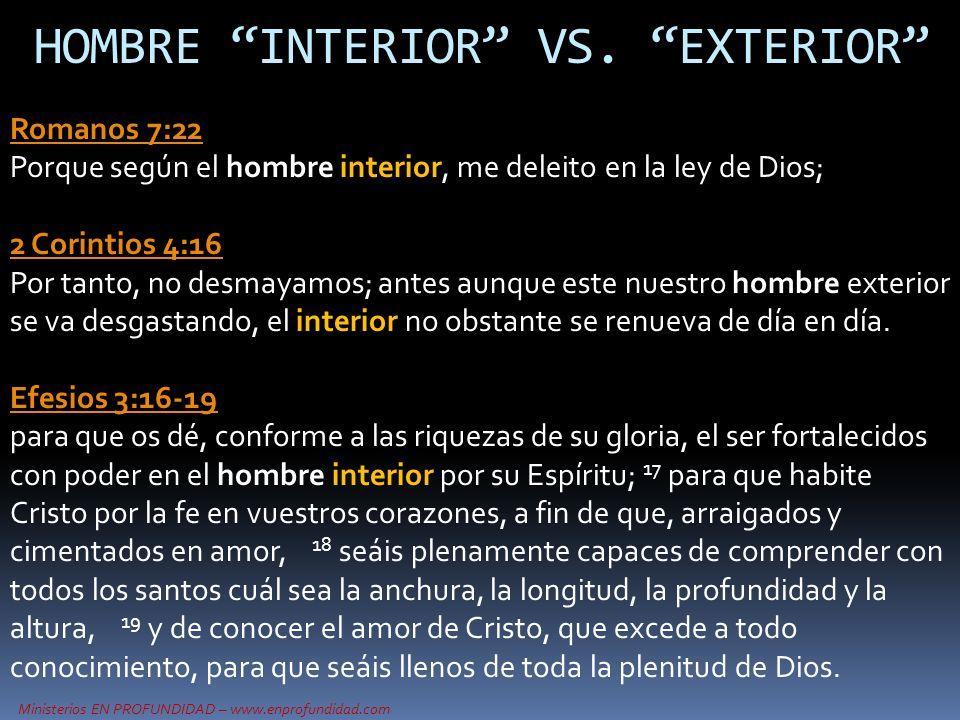 HOMBRE INTERIOR VS. EXTERIOR