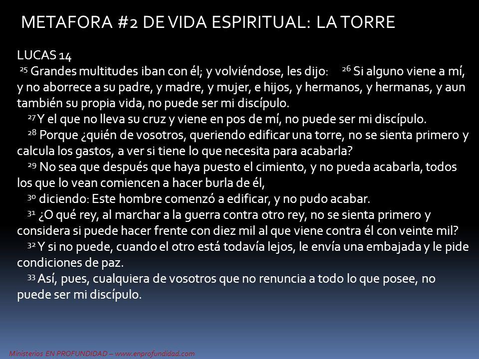 METAFORA #2 DE VIDA ESPIRITUAL: LA TORRE