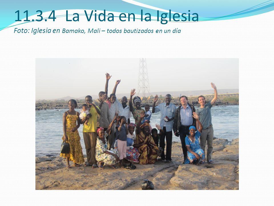 11.3.4 La Vida en la Iglesia Foto: Iglesia en Bamako, Mali – todos bautizados en un día