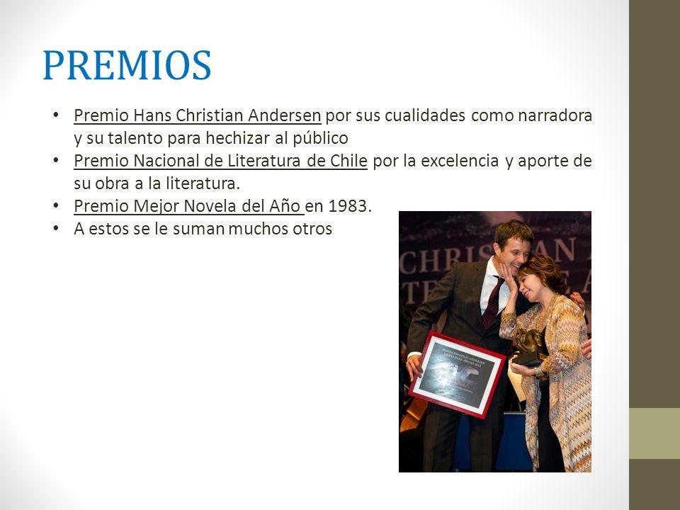 PREMIOS Premio Hans Christian Andersen por sus cualidades como narradora y su talento para hechizar al público.