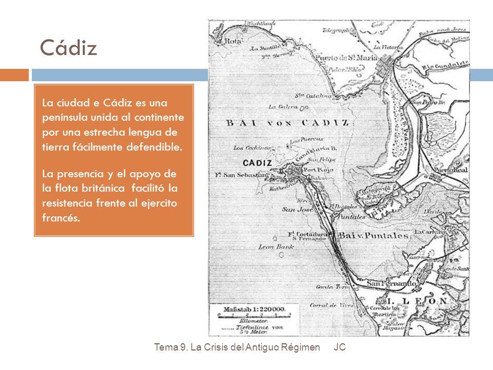 Cádiz La ciudad e Cádiz es una península unida al continente por una estrecha lengua de tierra fácilmente defendible.