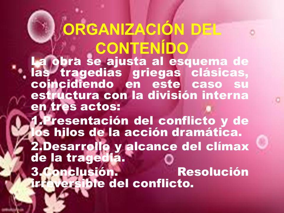ORGANIZACIÓN DEL CONTENÍDO