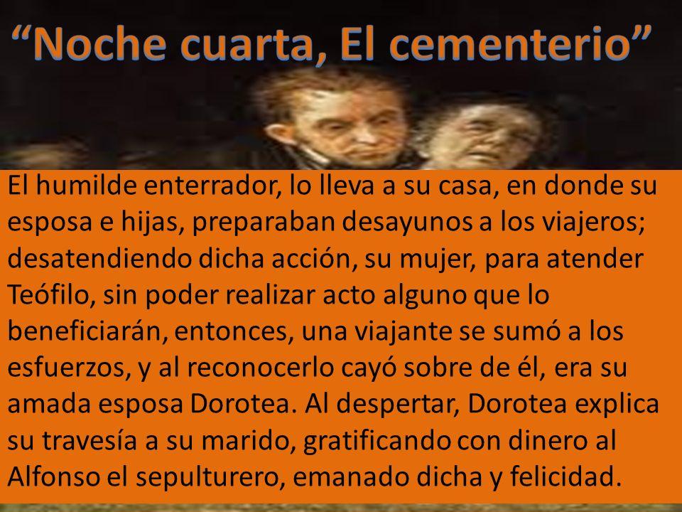 Noche cuarta, El cementerio