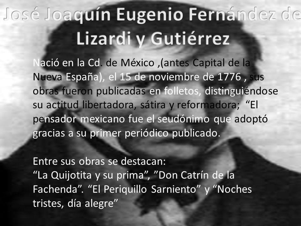 José Joaquín Eugenio Fernández de Lizardi y Gutiérrez