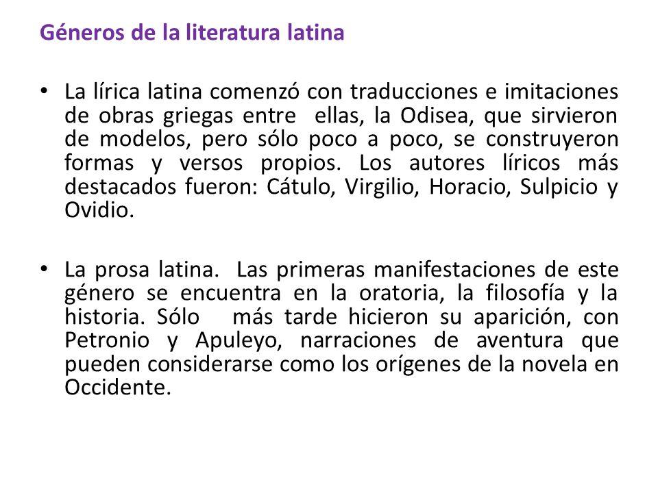 Géneros de la literatura latina