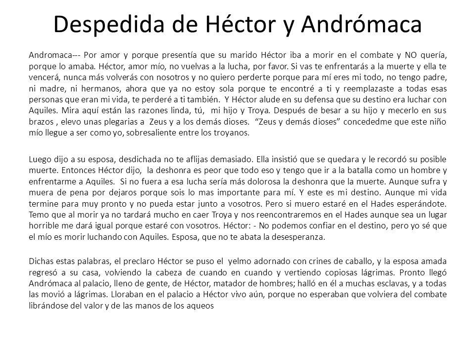 Despedida de Héctor y Andrómaca