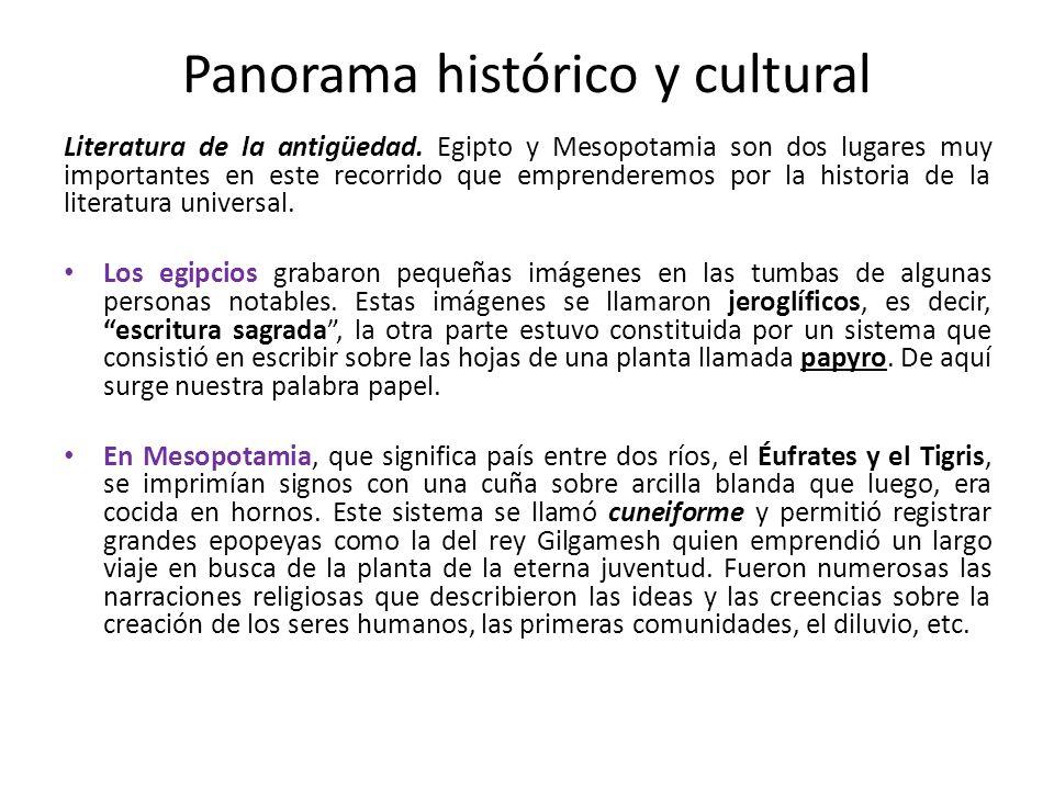 Panorama histórico y cultural