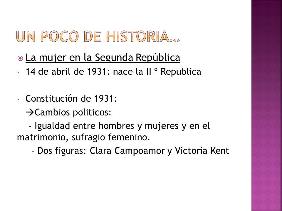 Un poco de historia… La mujer en la Segunda República