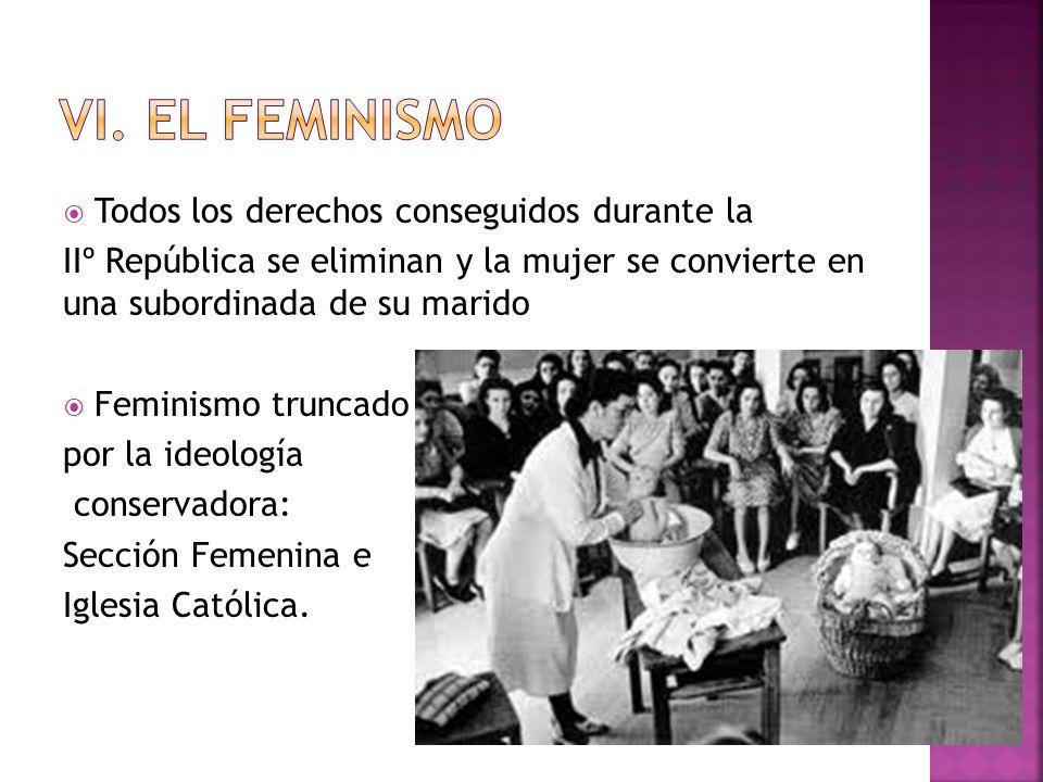 VI. El feminismo Todos los derechos conseguidos durante la