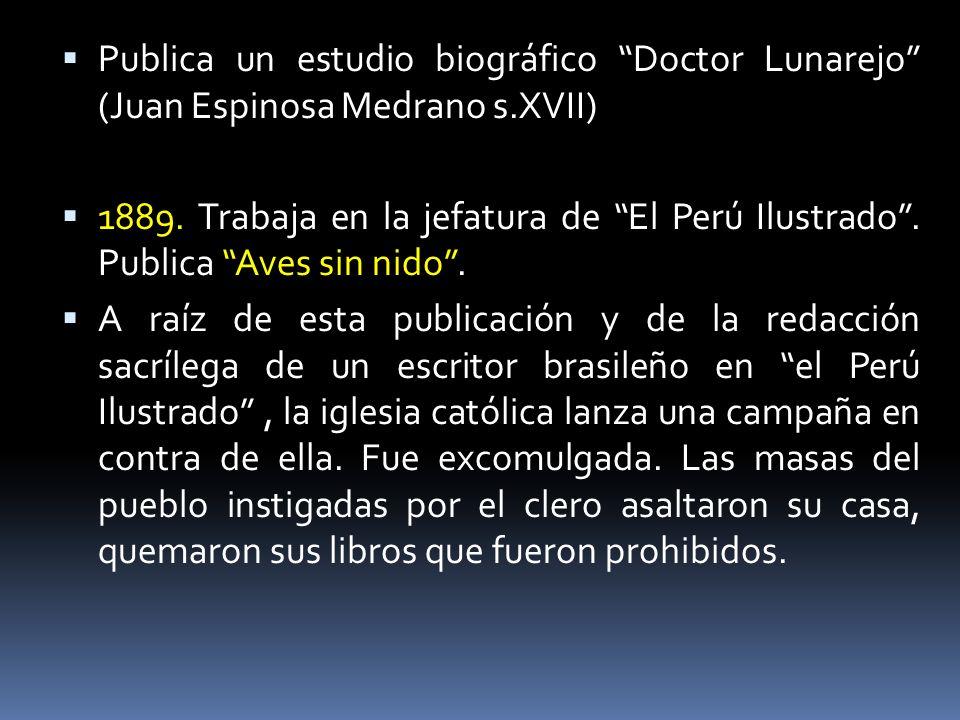 Publica un estudio biográfico Doctor Lunarejo (Juan Espinosa Medrano s.XVII)