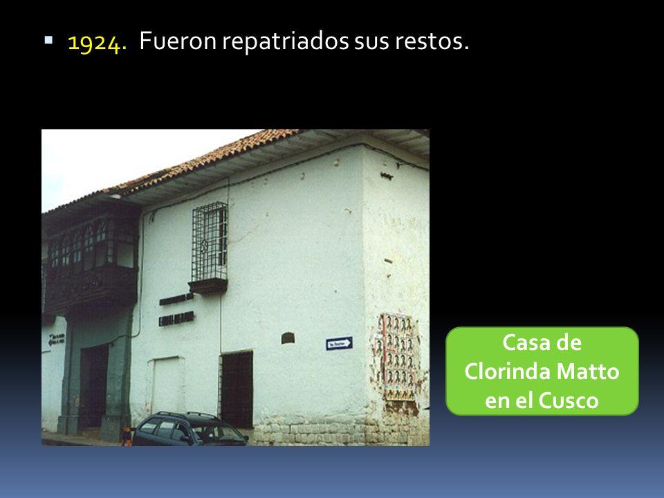 Casa de Clorinda Matto en el Cusco