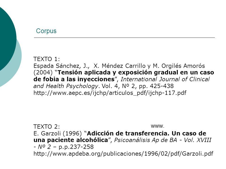 Corpus TEXTO 1: