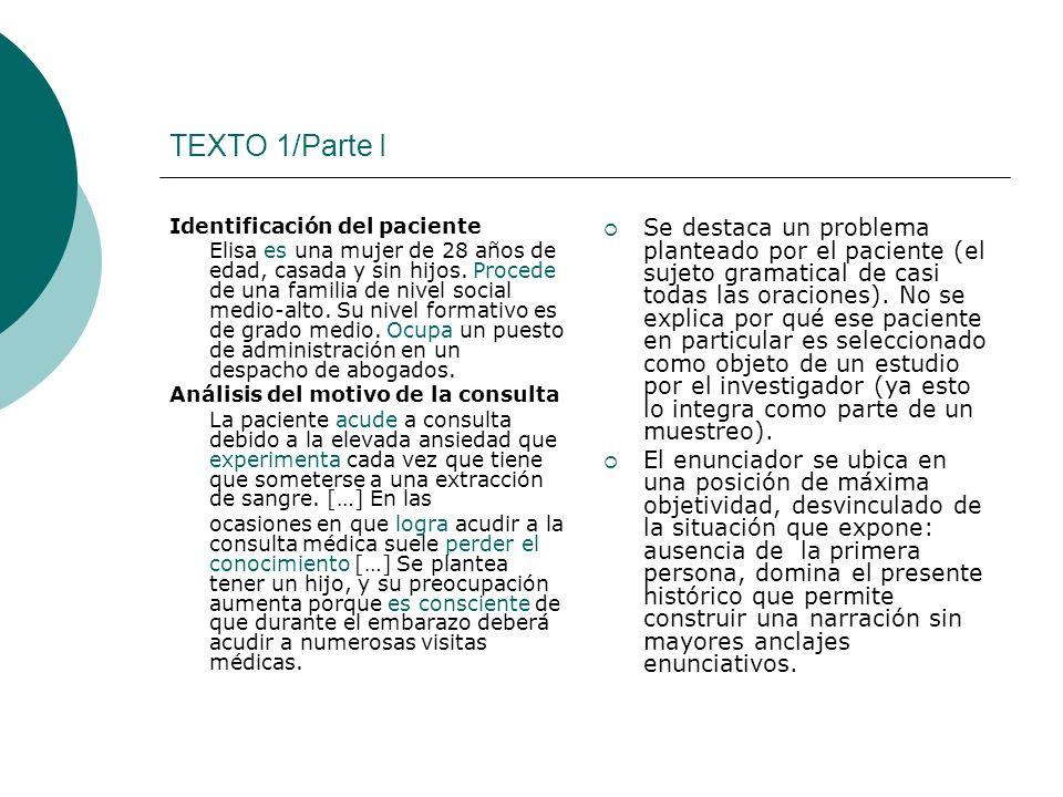 TEXTO 1/Parte I Identificación del paciente.