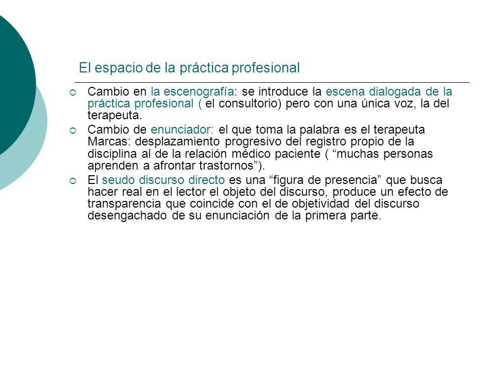 El espacio de la práctica profesional