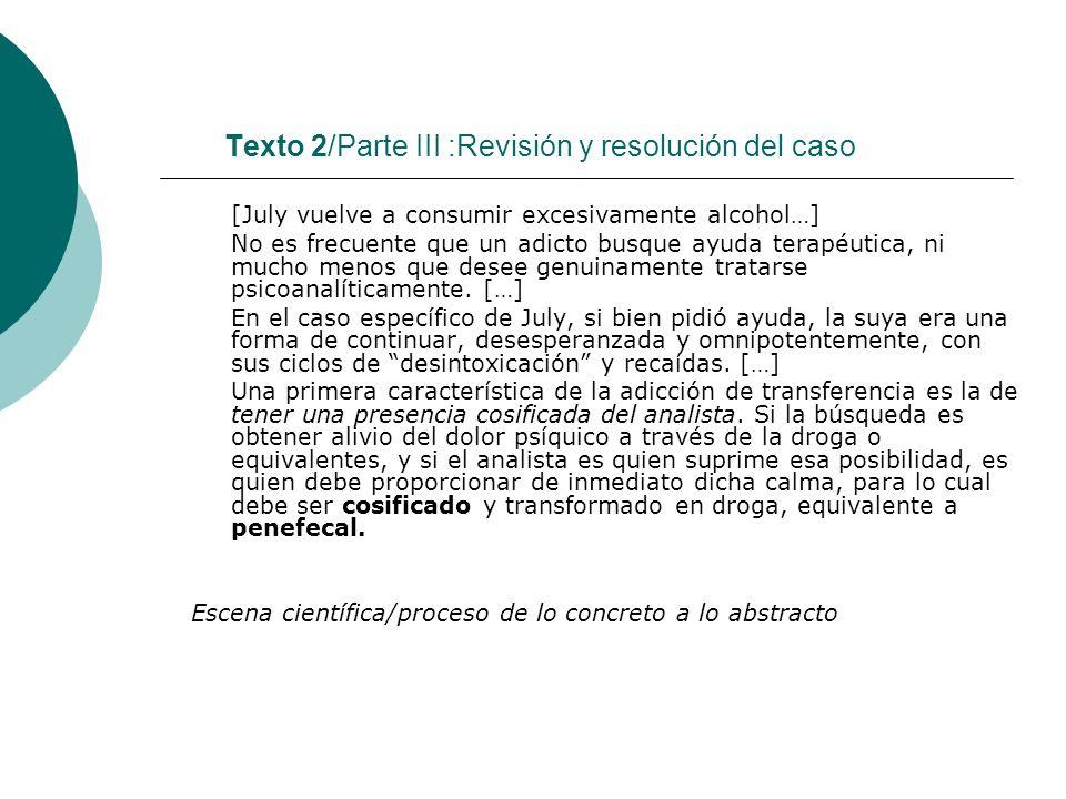 Texto 2/Parte III :Revisión y resolución del caso