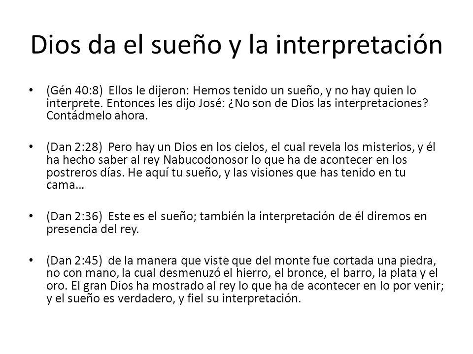 Dios da el sueño y la interpretación