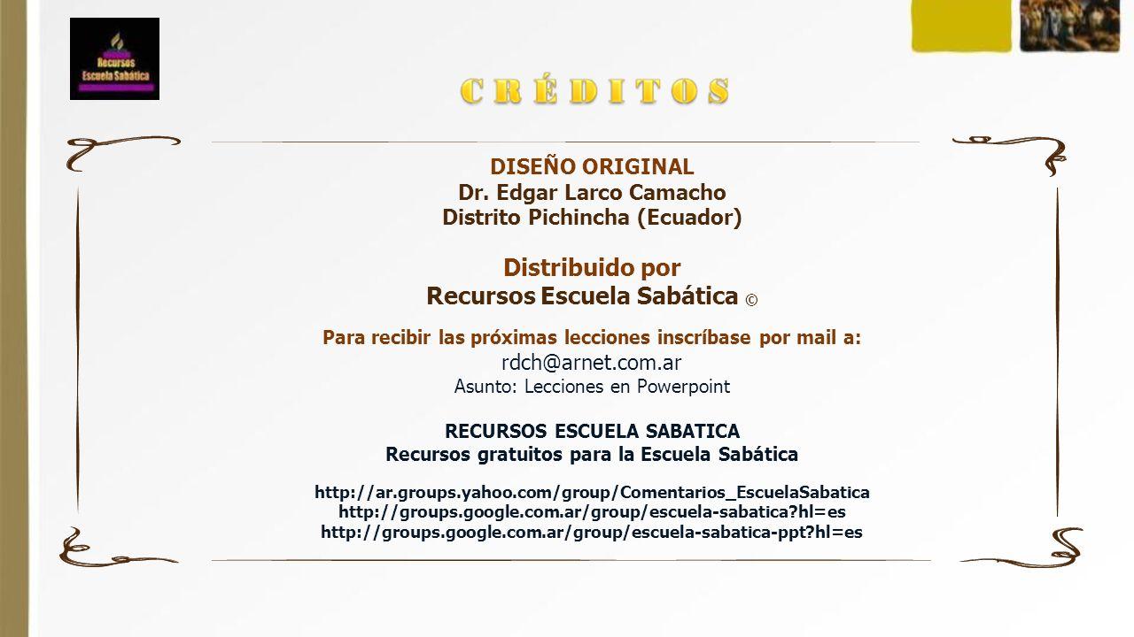 Distribuido por Recursos Escuela Sabática ©