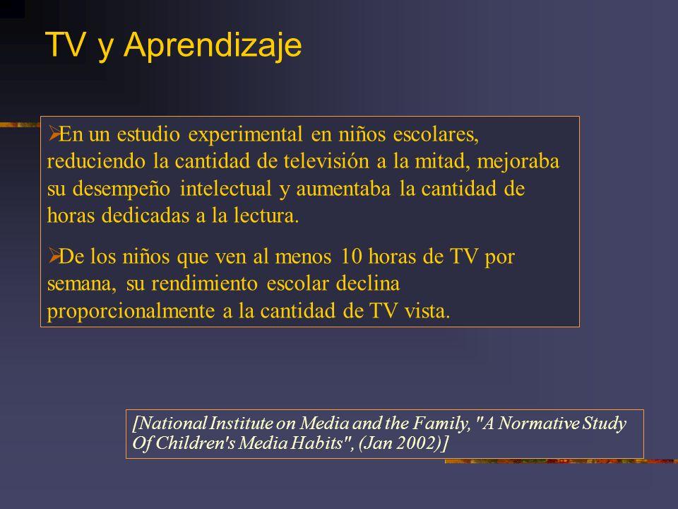 TV y Aprendizaje
