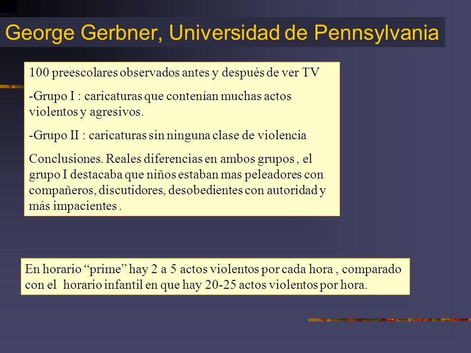 George Gerbner, Universidad de Pennsylvania