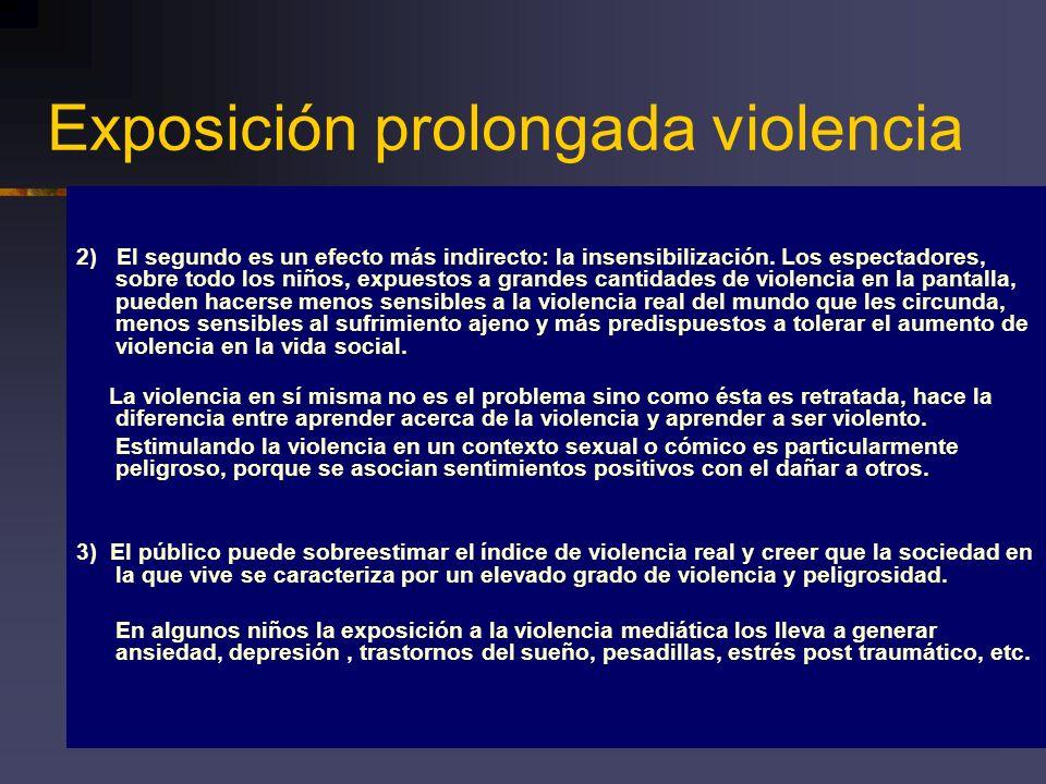 Exposición prolongada violencia