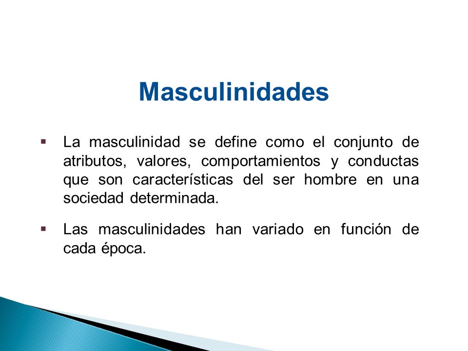 Masculinidades