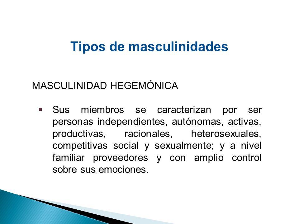 Tipos de masculinidades