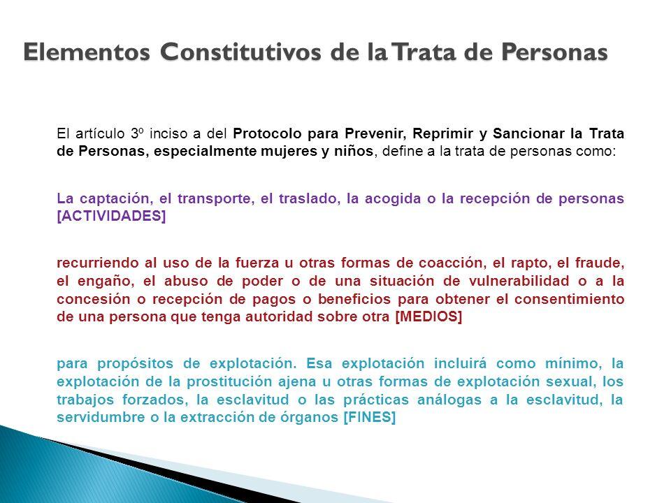 Elementos Constitutivos de la Trata de Personas