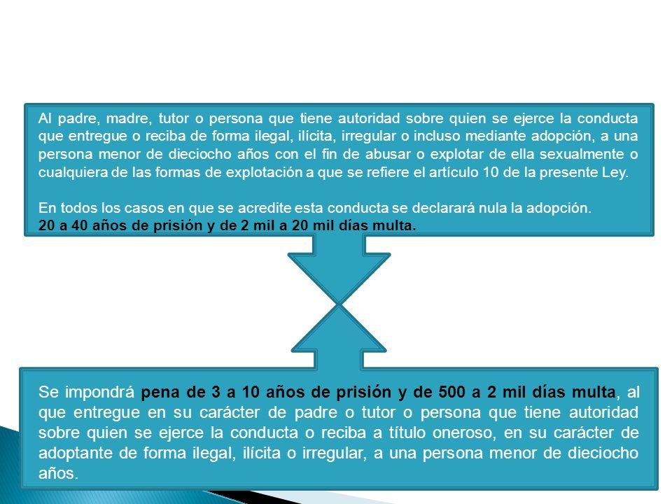 VIII. Adopción ilegal de personas menores de 18 años