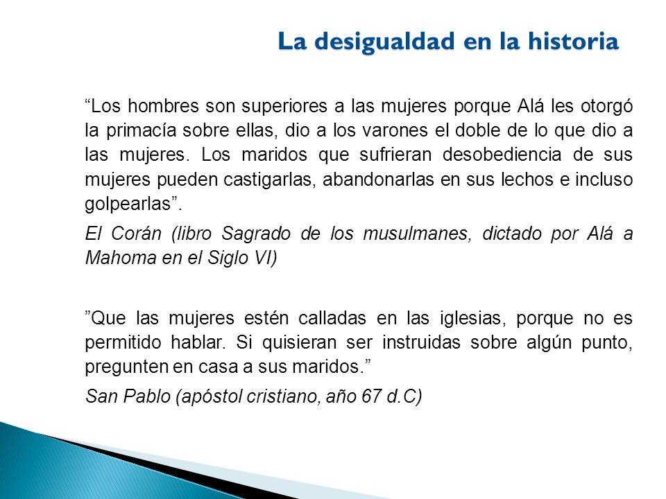 La desigualdad en la historia