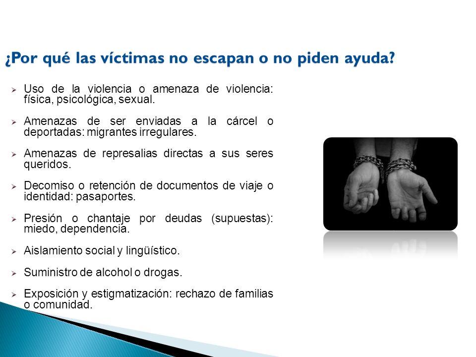 ¿Por qué las víctimas no escapan o no piden ayuda