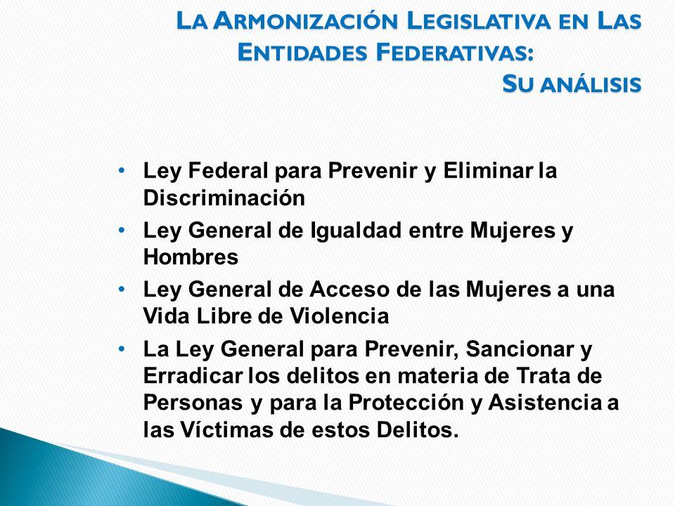 La Armonización Legislativa en Las Entidades Federativas: Su análisis