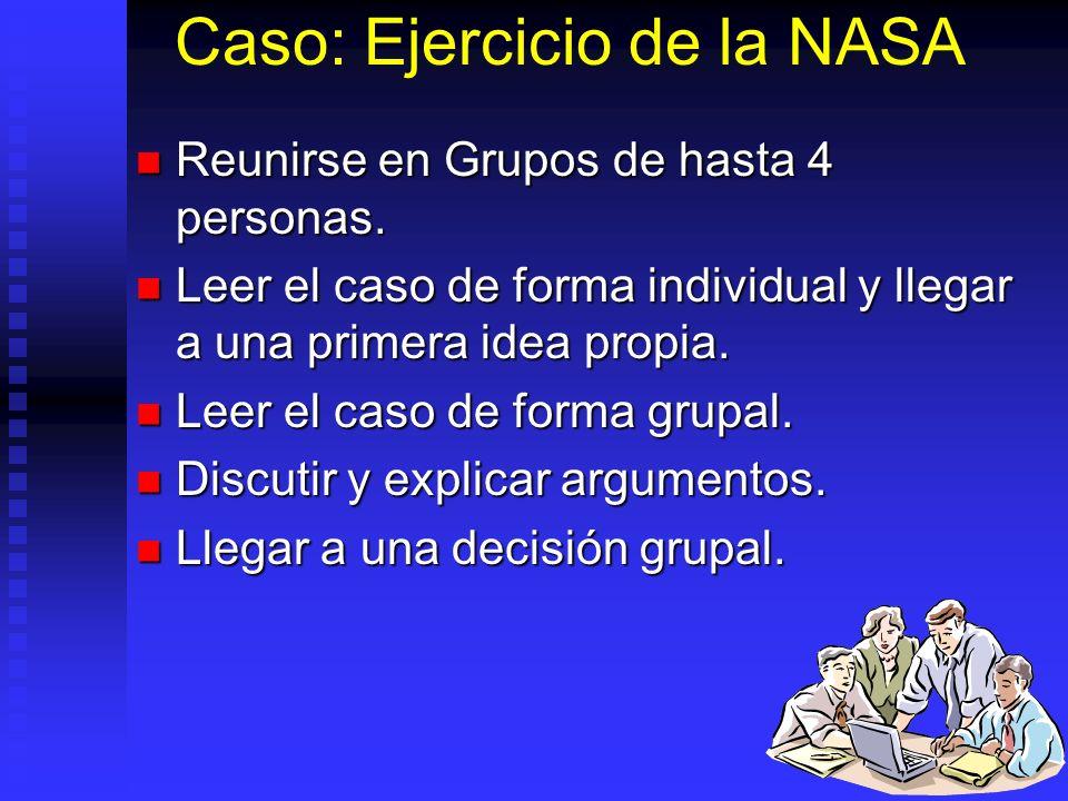 Caso: Ejercicio de la NASA