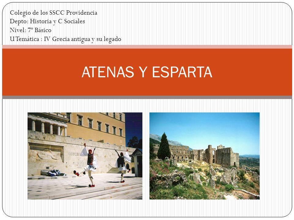 ATENAS Y ESPARTA Colegio de los SSCC Providencia