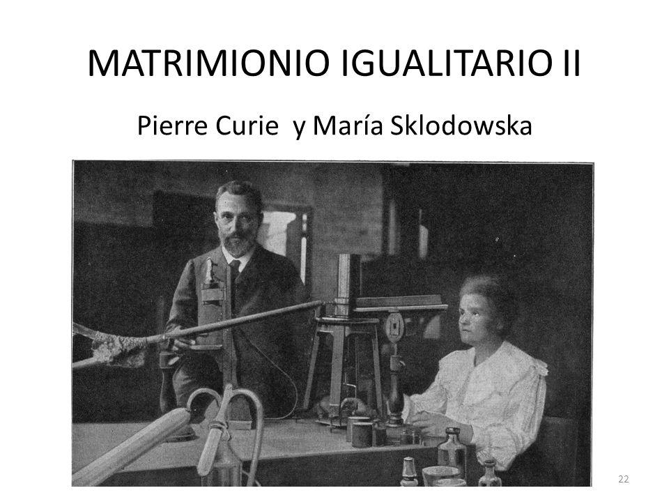 MATRIMIONIO IGUALITARIO II