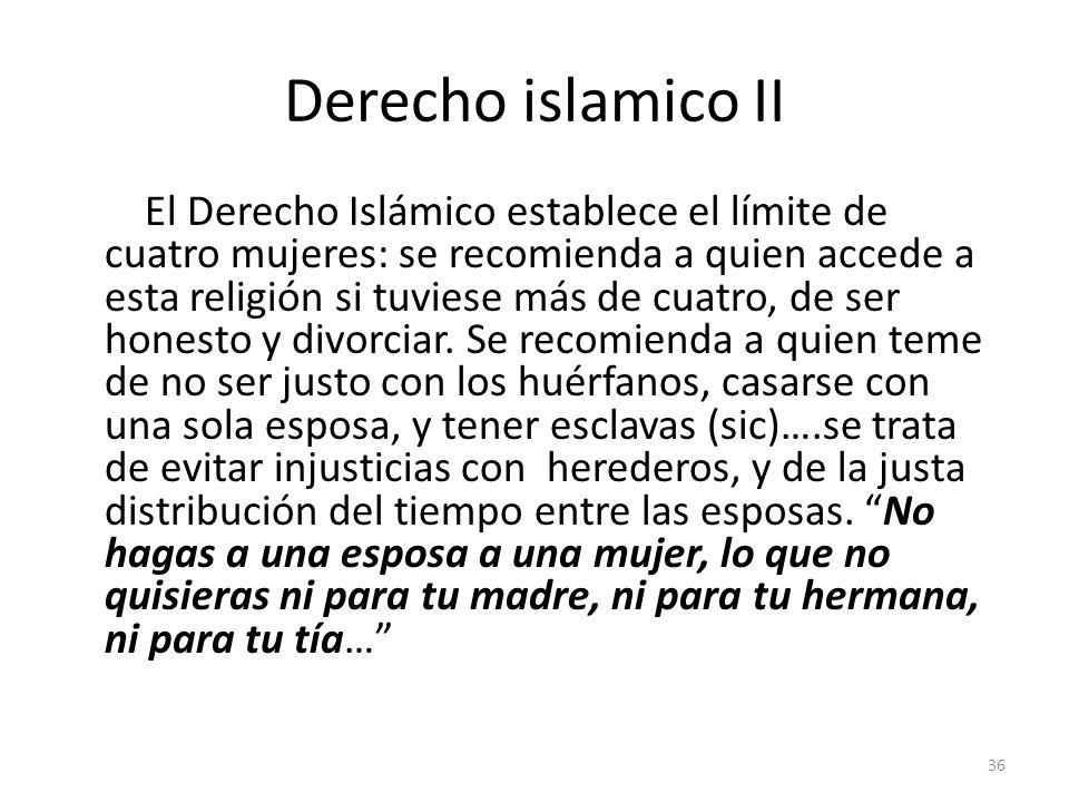 Derecho islamico II