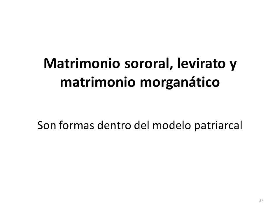 Matrimonio sororal, levirato y matrimonio morganático