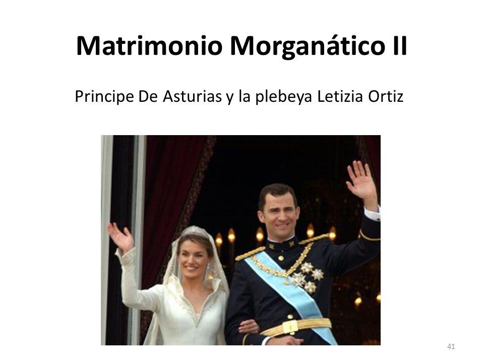 Matrimonio Morganático II
