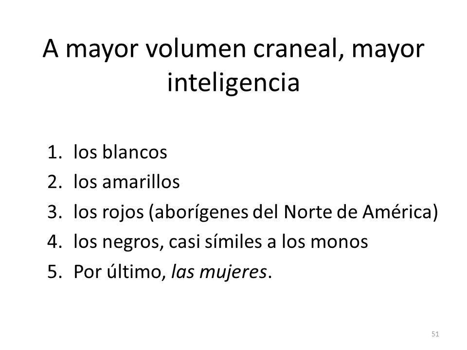 A mayor volumen craneal, mayor inteligencia