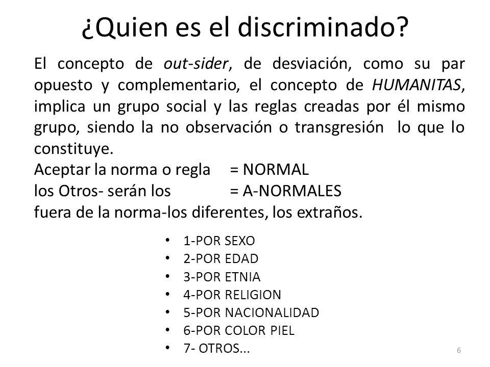 ¿Quien es el discriminado