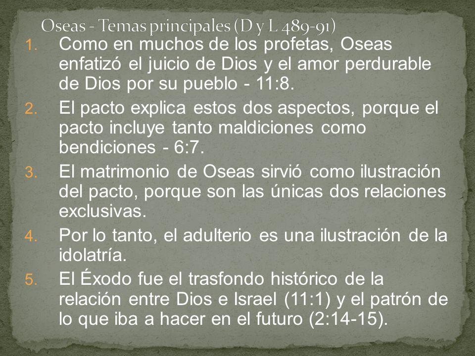 Oseas - Temas principales (D y L 489-91)