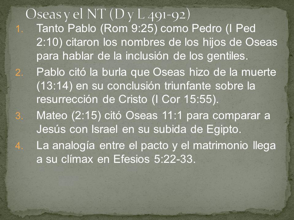Oseas y el NT (D y L 491-92)