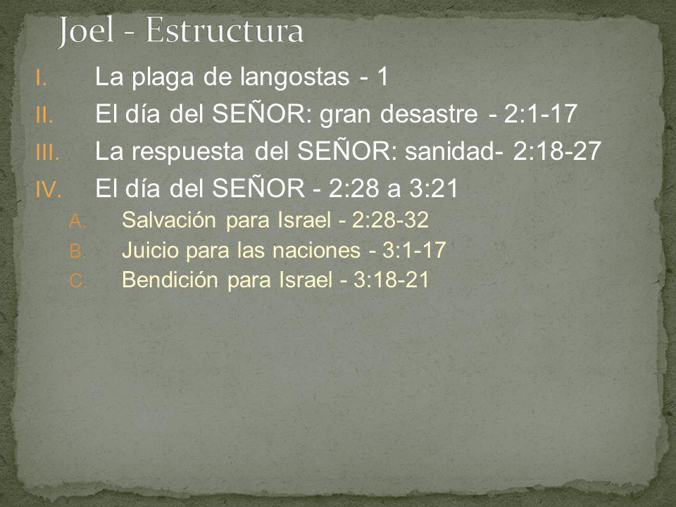 Joel - Estructura La plaga de langostas - 1