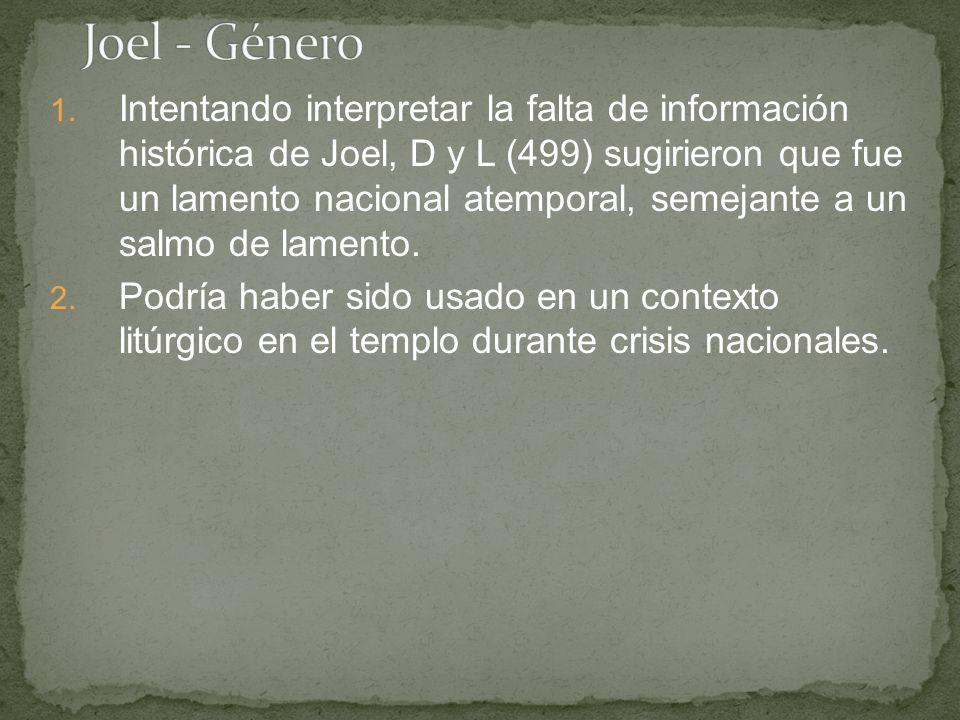 Joel - Género