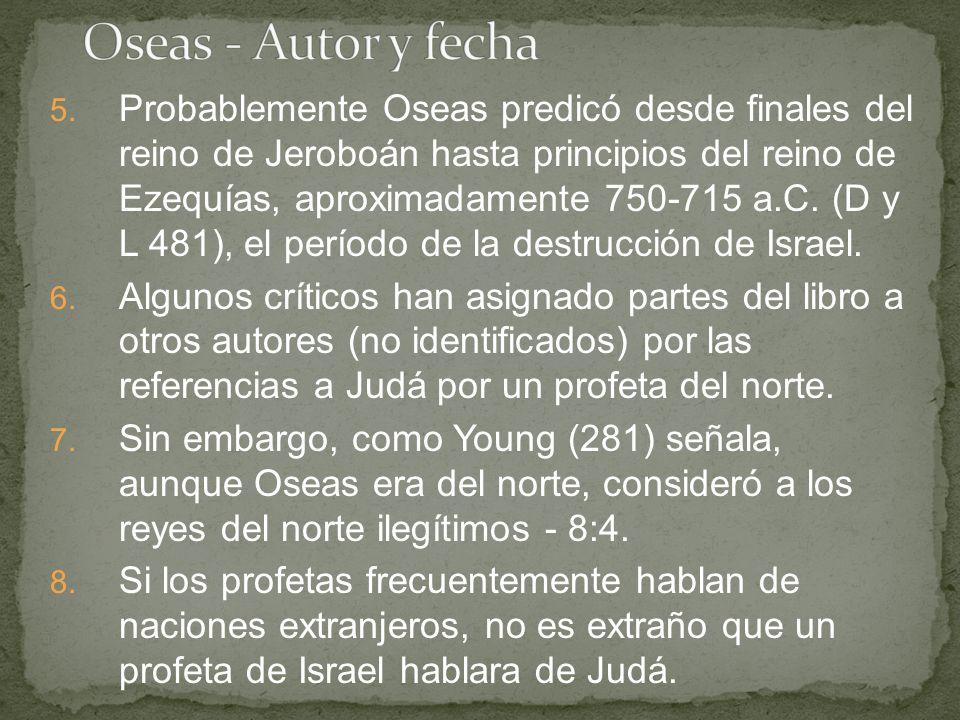 Oseas - Autor y fecha
