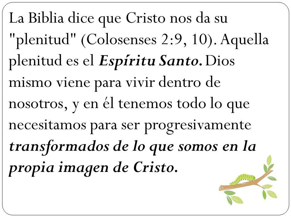 La Biblia dice que Cristo nos da su plenitud (Colosenses 2:9, 10)