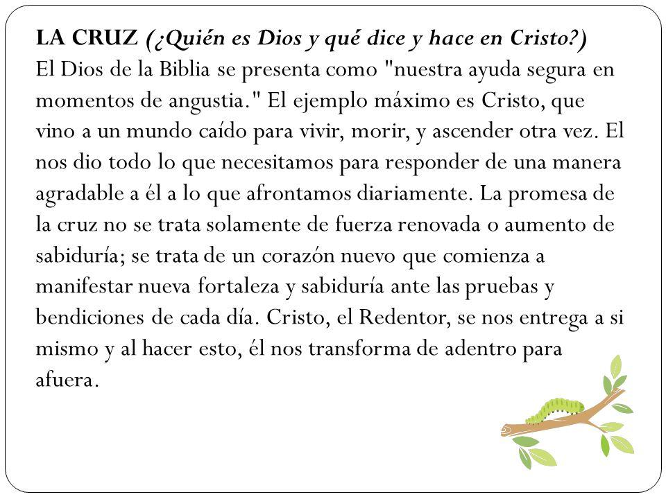 LA CRUZ (¿Quién es Dios y qué dice y hace en Cristo )
