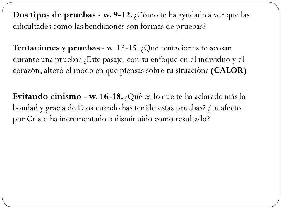 Dos tipos de pruebas - w. 9-12